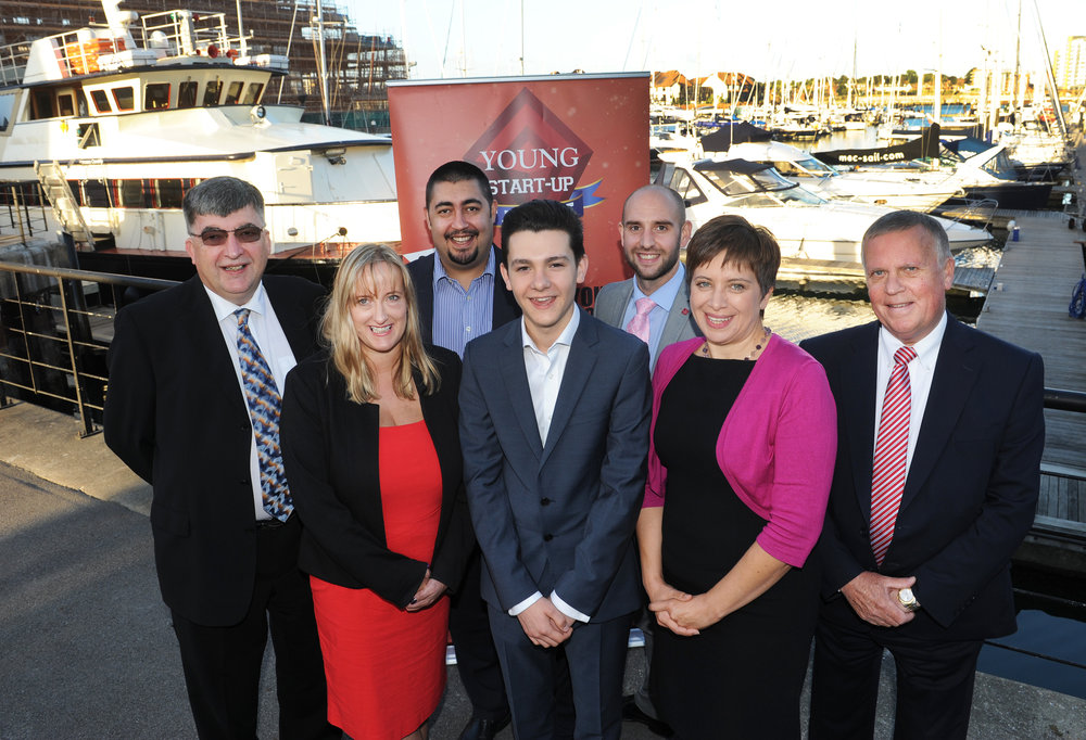 YST Solent judges 2016 – Left to right Chris Allington, Lorraine Nugent, Matt Turner, Ben Towers, Simon Finch, Zara Hogg and Michael Dyer