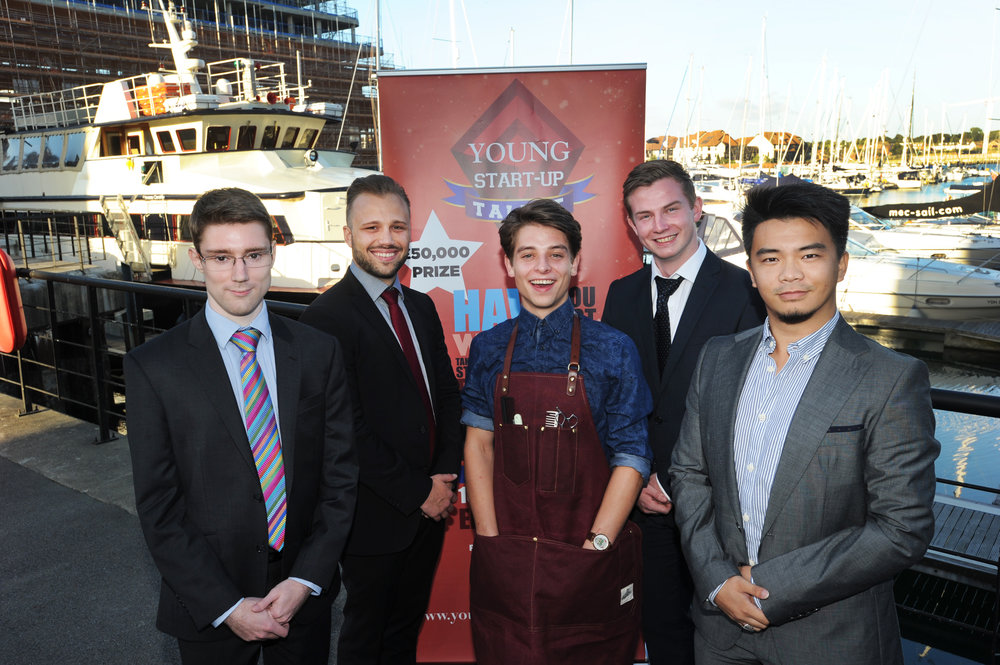 YST finalists Solent 2016 – Left to Right – John Wheal, Casper Nielson, Harry Phelan, Calvin Macleod and Ming Wu