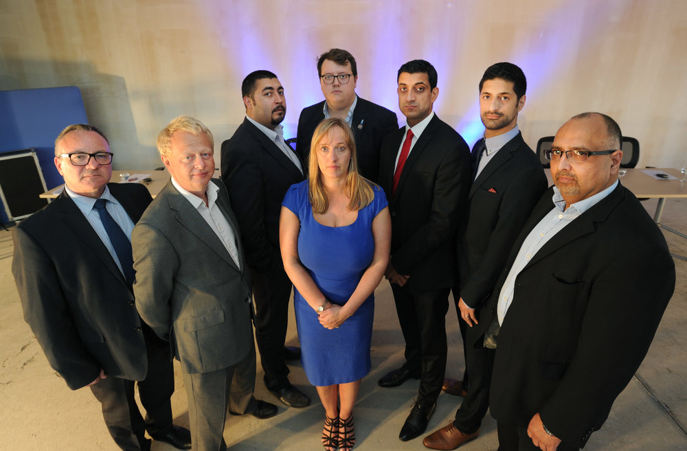 YST Kent judges 2016 – Left to Right Keith Cane, Simon Warne, Matt Turner, Lorraine Nugent, Rob Nunn, Dara Chauhan, Michael Adamou and Irfan Baluch