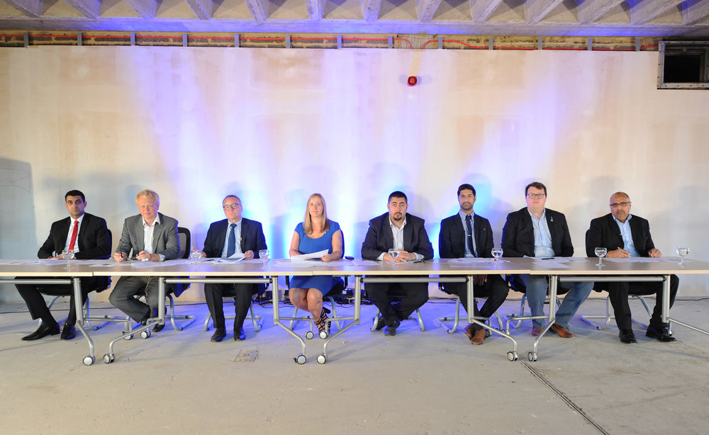 The judging panel that finalist faced