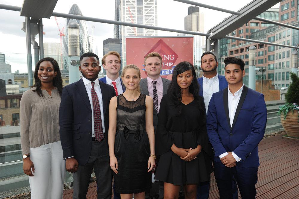 The 2017 London Finalists: Ibiere Banigo, Tade Fadairo, Leon Watson, Diana Florescu, George Foster, Kimberely Moyo, Akram Allam and Aftaab Allam