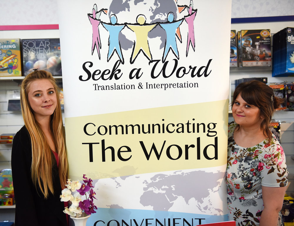 Natasha Tiffin & Alice Dixon of Seek A Word