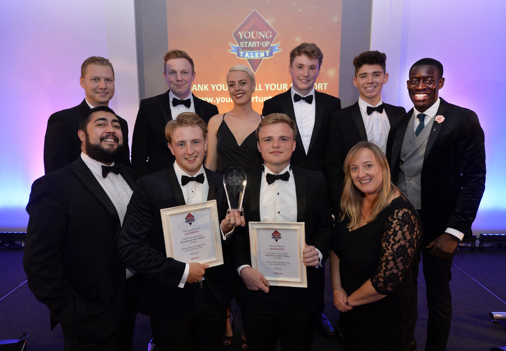 Previous winners - left to right back row (Dean Day, Ben Jeffries, Stephanie Kane, Tom Orchard, Harry Daymond, Jeremy Mutebi Luzinda - front row - Matt Turner, Leon Watson, George Foster and Lorraine Nugent)