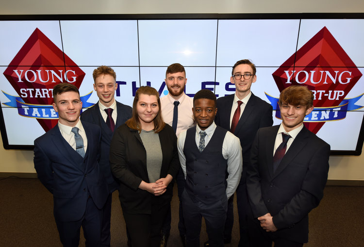 YST Finalists 2019 - Left to right (Tom Williams, Luke Baldwin, Rebecca Fitzgerald, Anthony Mellor, Hlanganiso Matangaidze,   Tom Gray and William Venner