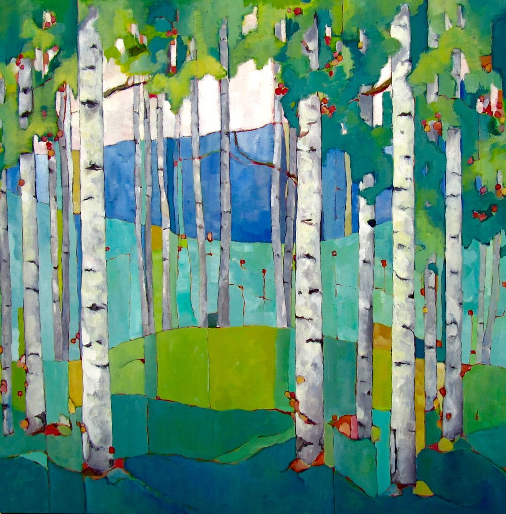 "Vermont Summer, oil on canvas, 36x36"" SOLD"