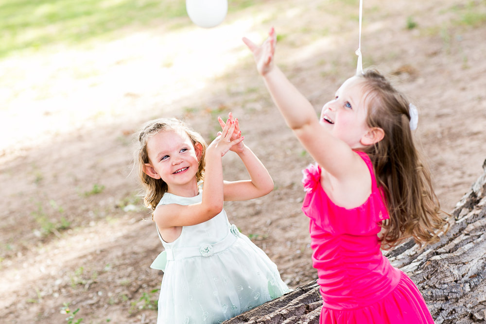 Balloons and wedding receptions go hand in hand, especially for these two little ones
