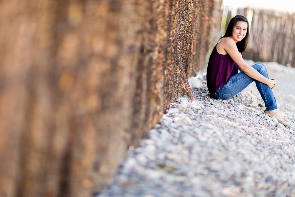 Rachael's sweet senior photography shoot, looking sweet