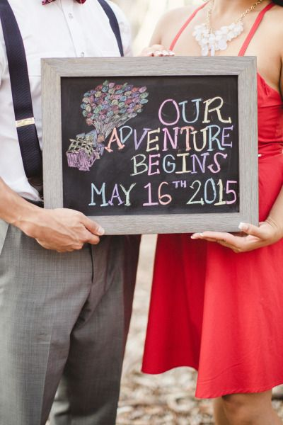 Another way to use your chalkboard to announce the date - Pinterest