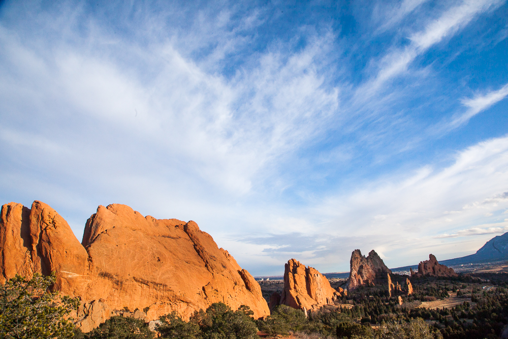 Garden of the Gods, blue sky, mid afternoon