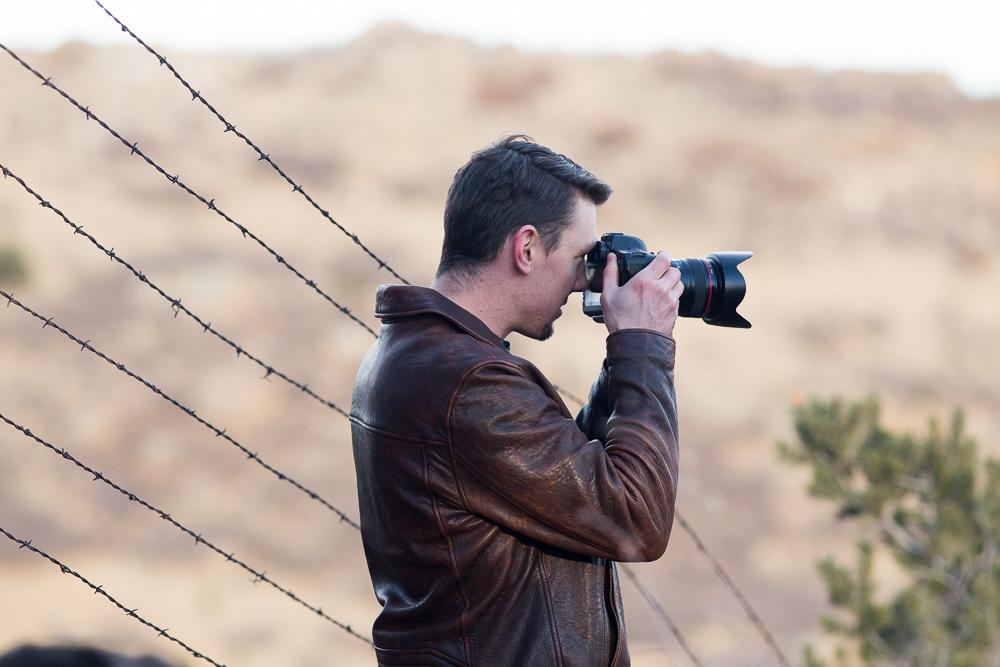 John snapping a photo