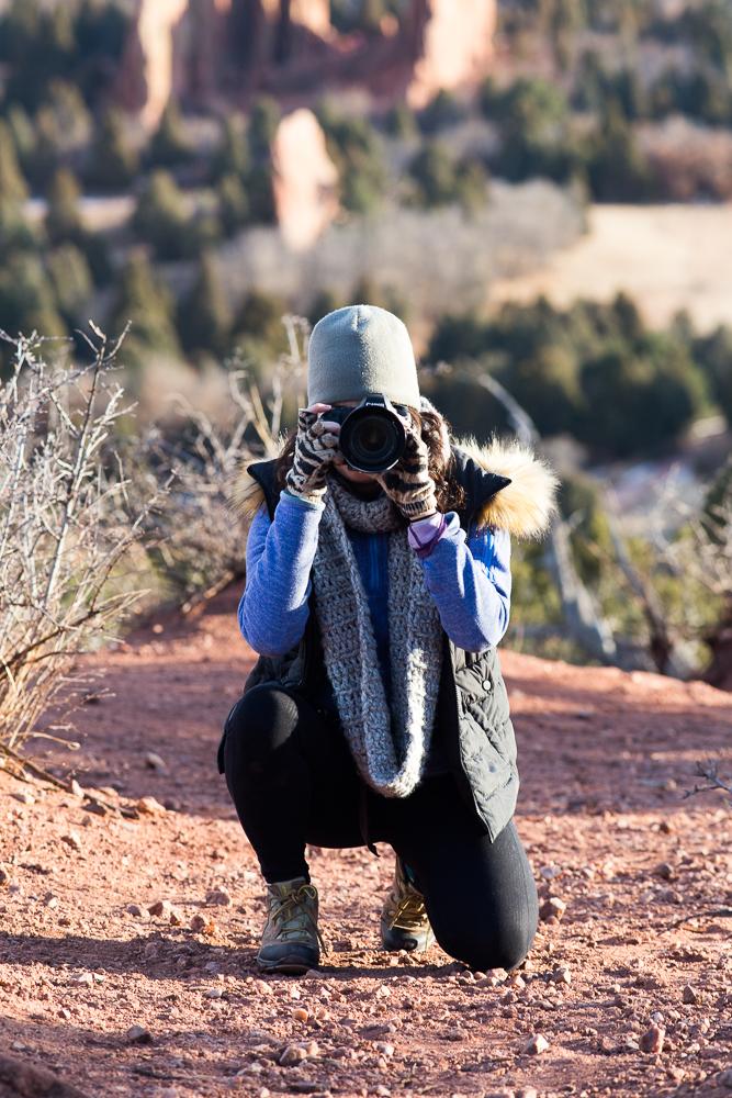 Rachael taking a photo