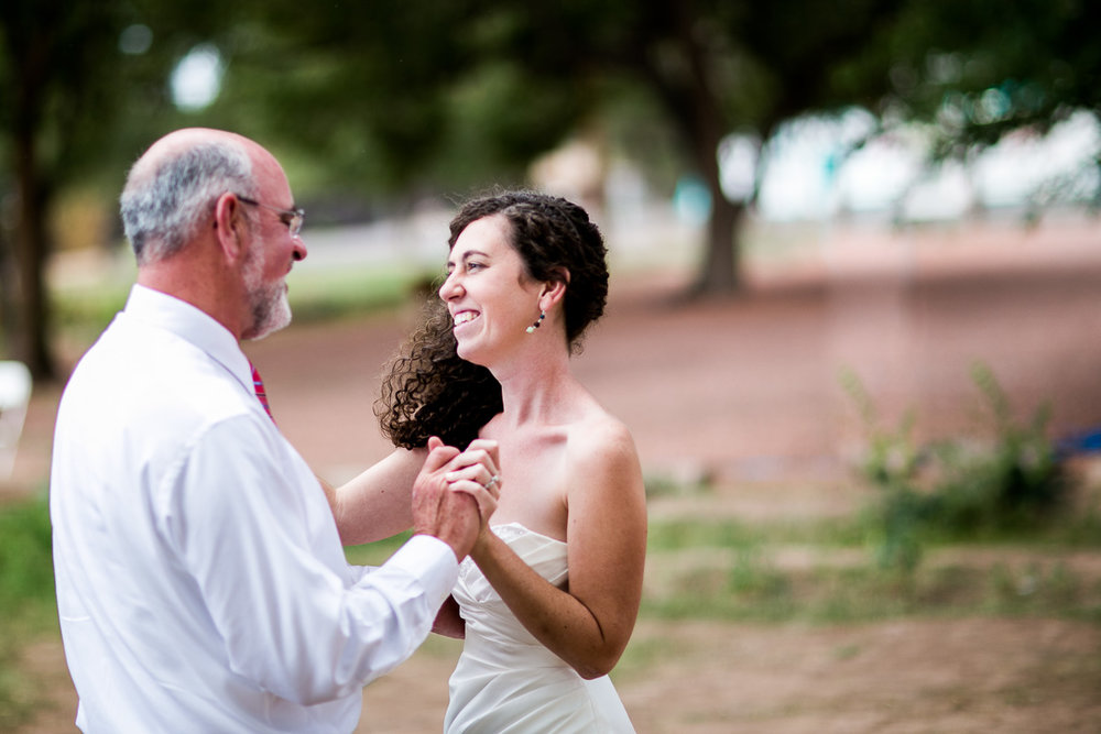 A beautiful outdoor father/daughter dance