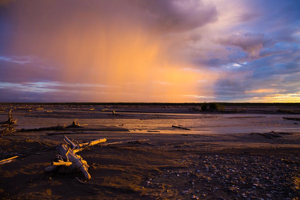 Delta River Virga Sunset