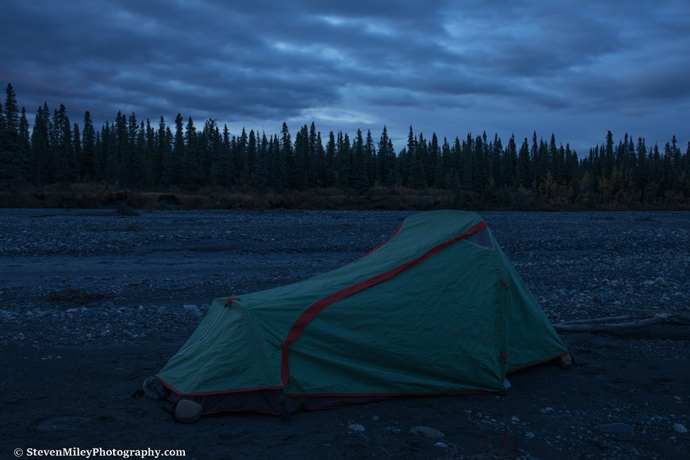 Camping on the McKinley River Bar