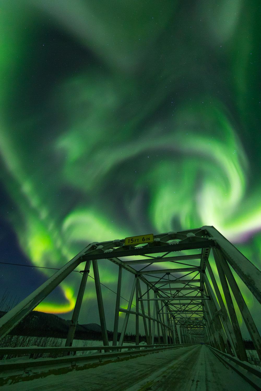 Gerstle River Bridge Aurora