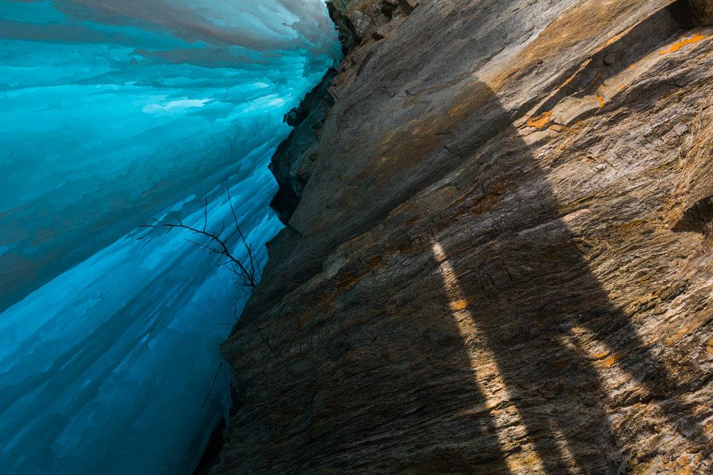 Frozen Waterfall Shadow