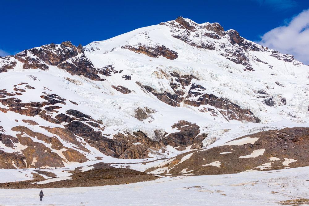Mt. Silvertip Over Castner Glacier, Alaska Range