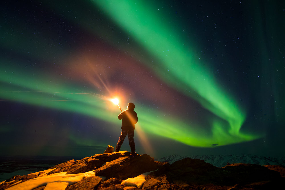 Torchlight Aurora, Donnelly Dome, Alaska