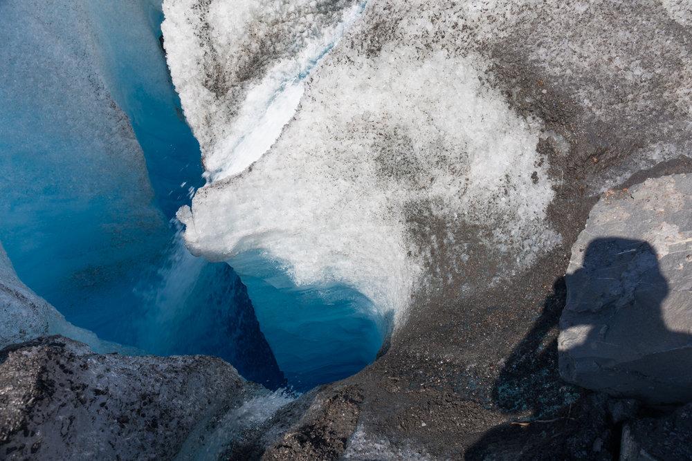 Water Emptying Into Moulin, Valdez Glacier