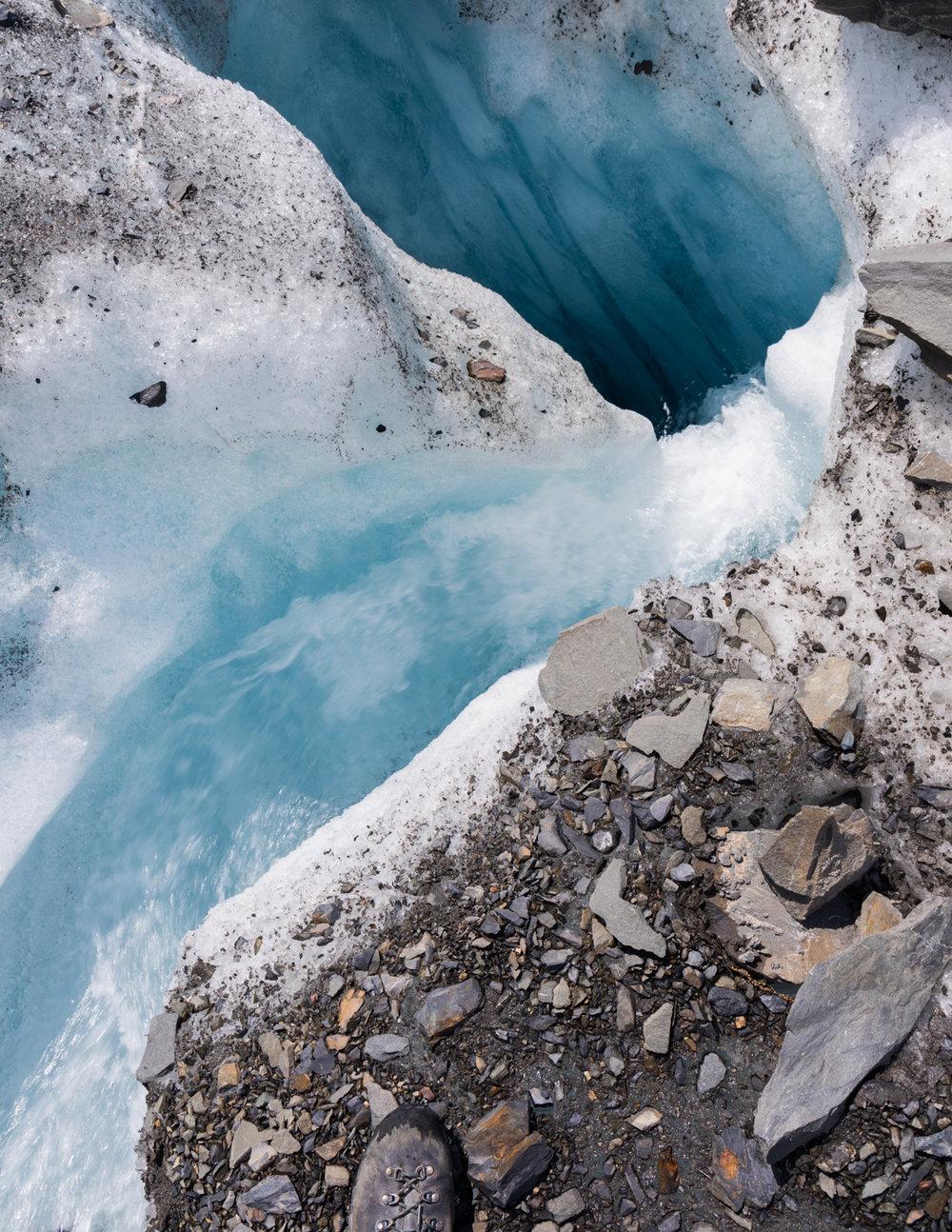 Valdez Glacier Moulin