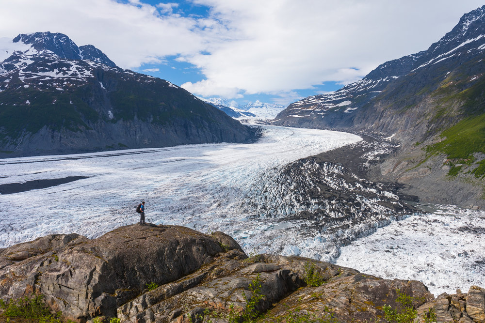 Overlooking Valdez Glacier