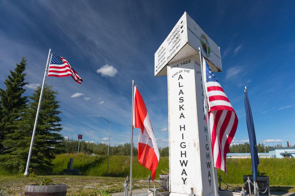 End of the Alaska Highway, Delta Junction