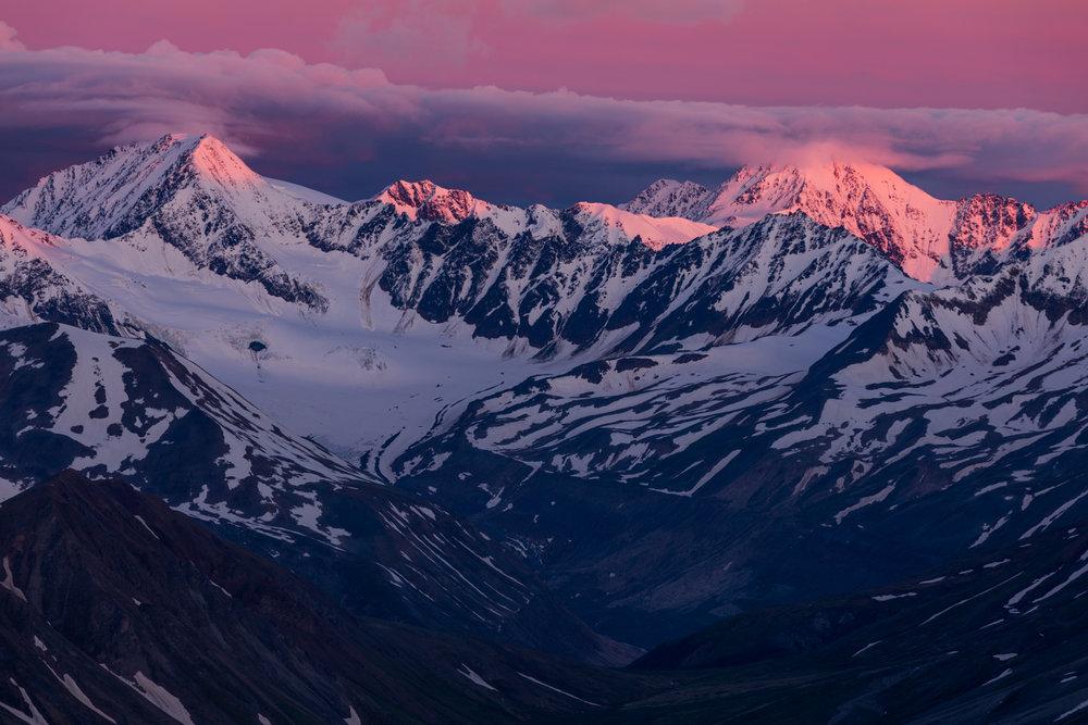 Augustana Glacier Sunrise, Alaska Range