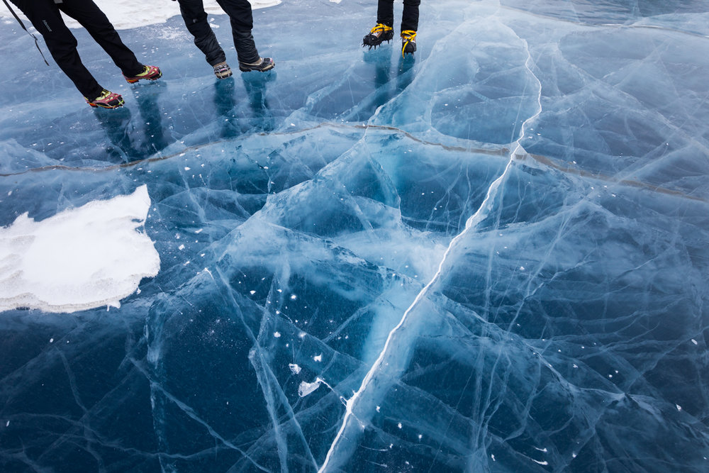 Thick Ice, Unnamed Lake At Black Rapids Glacier Terminus