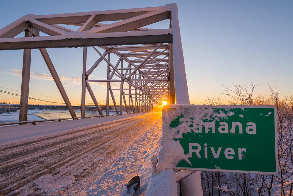 Tanana River Bridge Sunrise, Big Delta