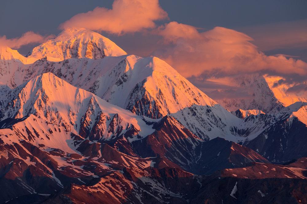 Mt. Moffit & Mt. Hayes Sunrise, Alaska Range