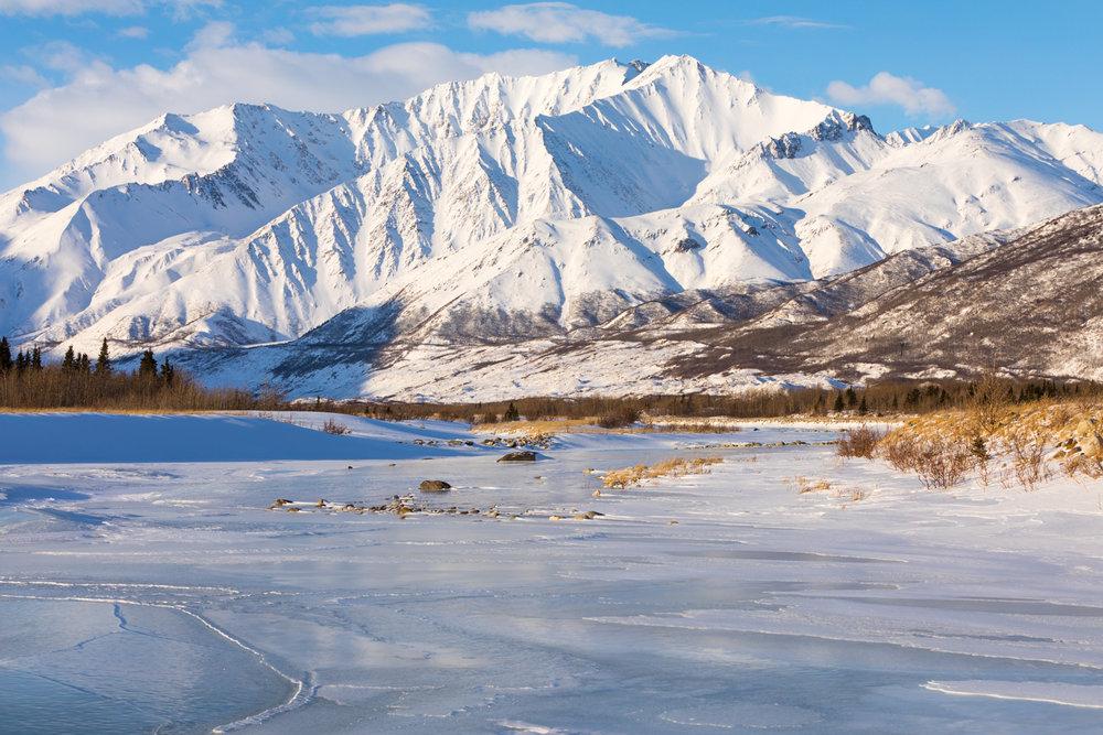 Overflow Ice Vista, Alaska Range
