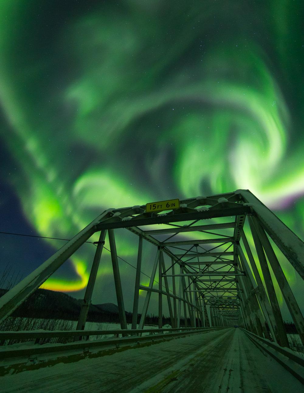 Gerstle River Bridge Aurora, Alaska Highway