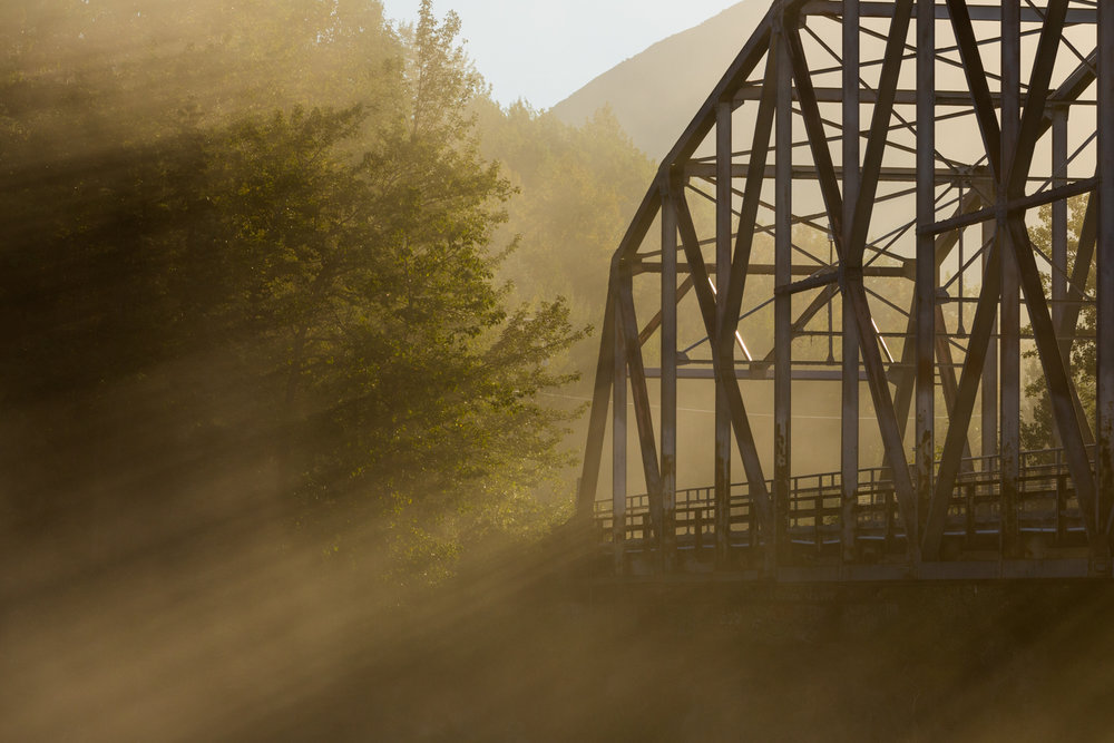 Sunrise On The Old Matanuska River Bridge, Palmer