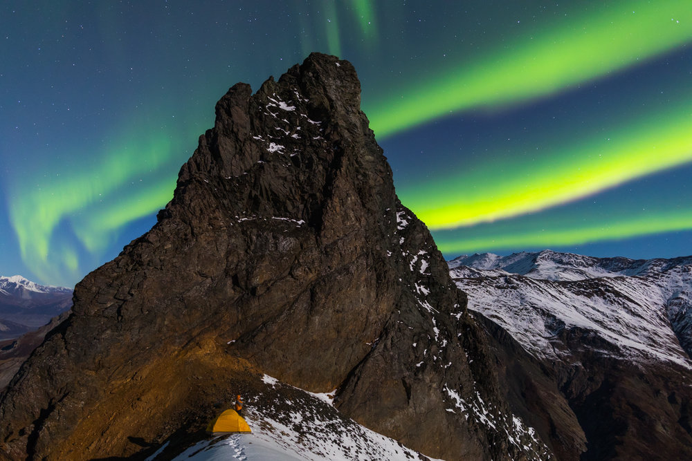 Devils Thumb Aurora, Alaska Range