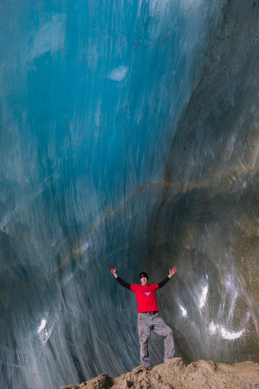 Castner Glacier Ice Cave Blue Glow