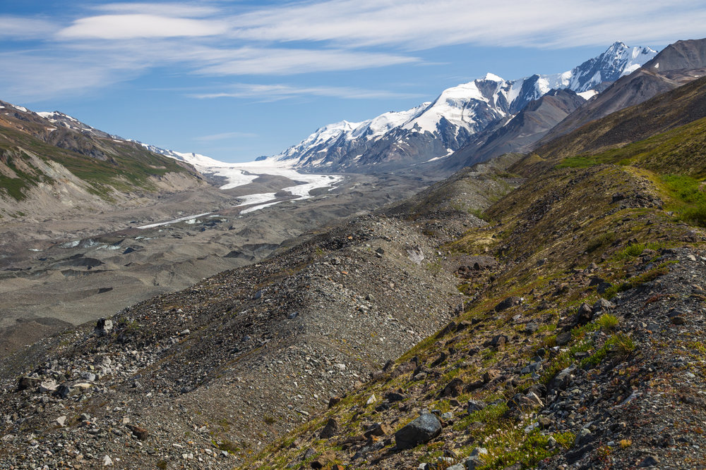 View of Canwell Glacier from trail
