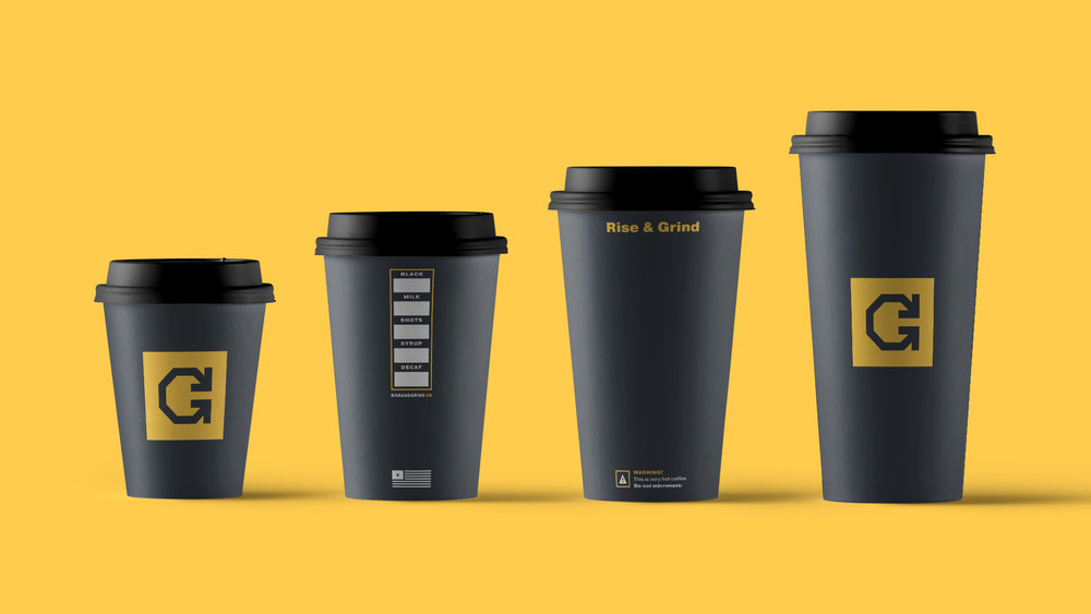 RISE & GRIND COFFEE STOP - BRAND DESIGN