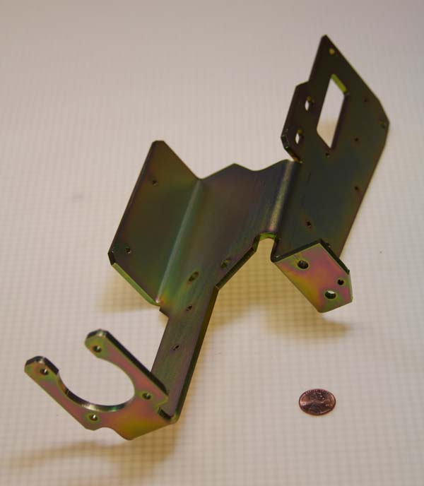 Formed and machined bracket