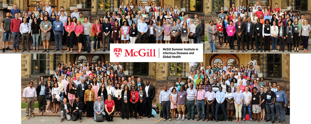 The Molecular and Genetic Epidemiology group (top left), the Tropical and Parasitic Diseases group (top centre), the TB Research Methods group (top right), the Global Health Diagnostics group (bottom left), and the Advanced TB Diagnostics Research group (bottom right).