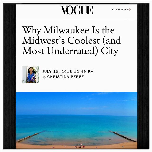 This is why we love our city so much!!! Finally, some recognition for our beautiful, little-big city 🙌🏻🙌🏻🙌🏻 Oh, yeah... and come get a spray tan 😂😜🤣 https://www.vogue.com/article/travel-guide-milwaukee-wisconsin-midwest-coolest-city • • • • #vogue #mke #mkehome #milwaukee #underrated #brewcity #foodie #drinks #beaches #nightlife #voguemagazine #greatcity #citylife #culture #tanskin #organic #custom #naturalglow #beauty #healthy #spraytan #recognition #pride