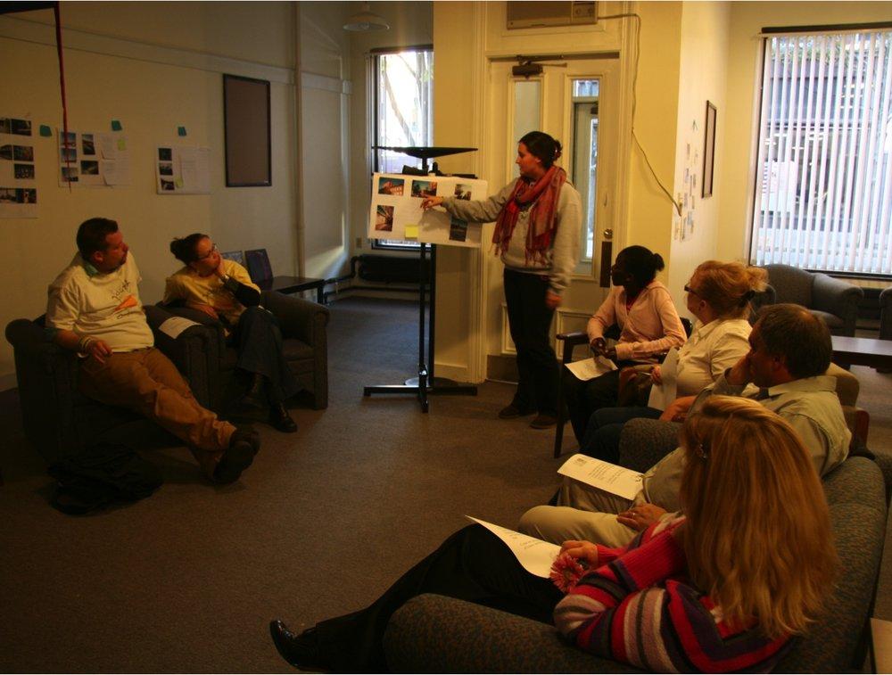 Lisbon Street center: community curators finalizing PhotoVoice exhibition