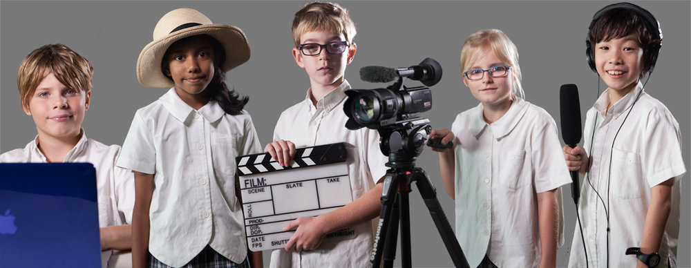 Junior School students as young as eight learn about film production.