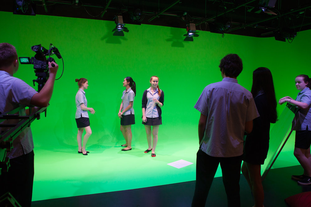 Senior Film green screen suite