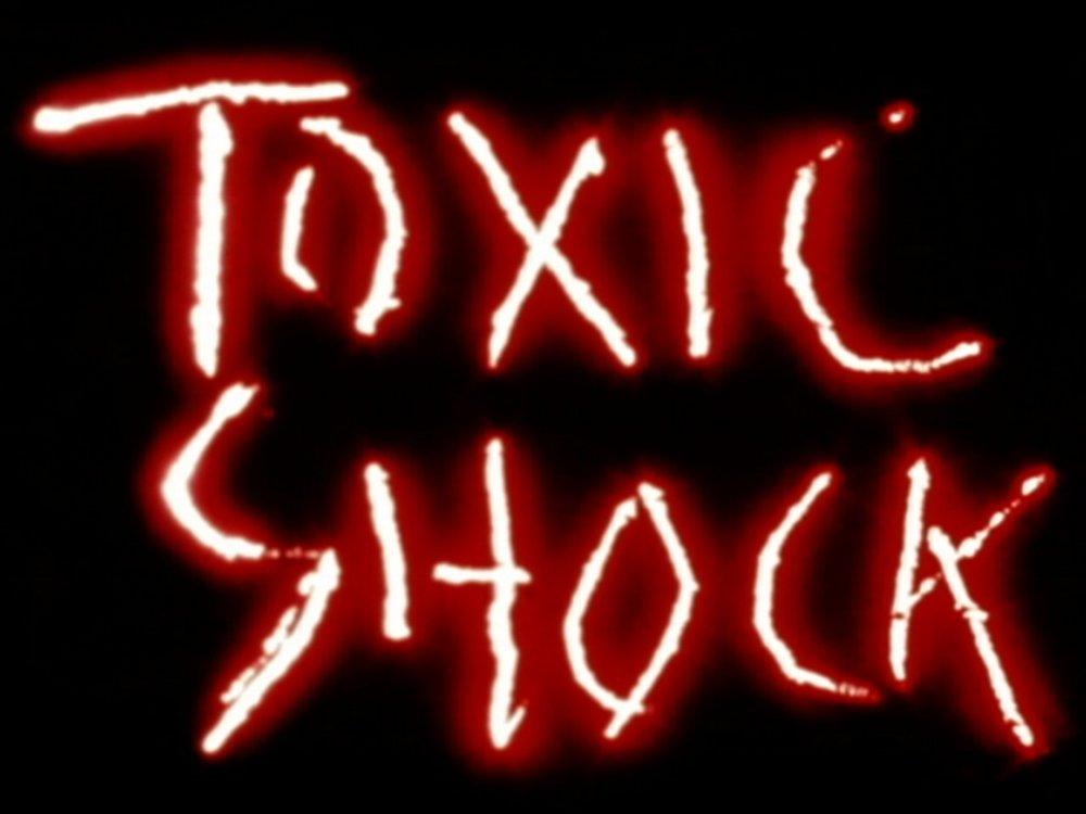 Toxic Shock Vanessa Renwick 1983 / 3 minutes / USA / 16mm / sound A visceral personal response to surviving a near-fatal case of Toxic Shock Syndrome. Toxic Shock combines intimate taboos of needles, blood and tampons with tried and true hands-on self-defense, set to a spare, penetrating and unknown score provided by a cassette tape gifted by a forgotten friend. A call to arms; what will you do in defense of your body? -VR