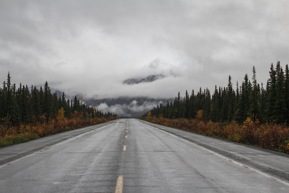 alaska open road mountains photography alyssa ackerman a place and all its creatures