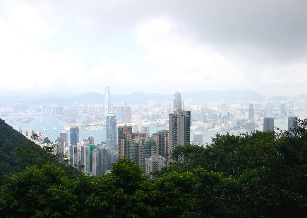 The view from the top of Victoria Peak!