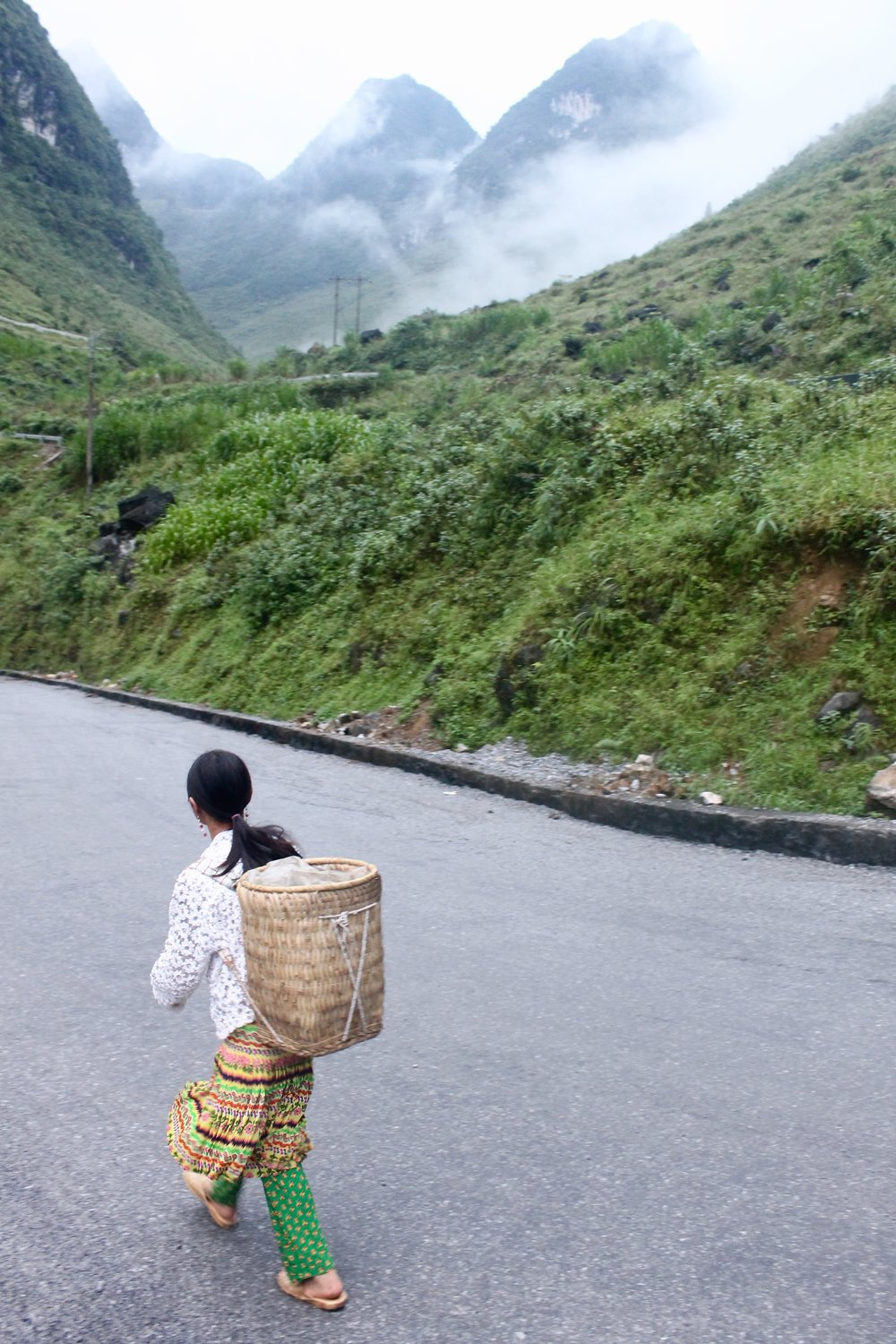 These straw backpacks are typical for transporting good between villages in Ha Giang.