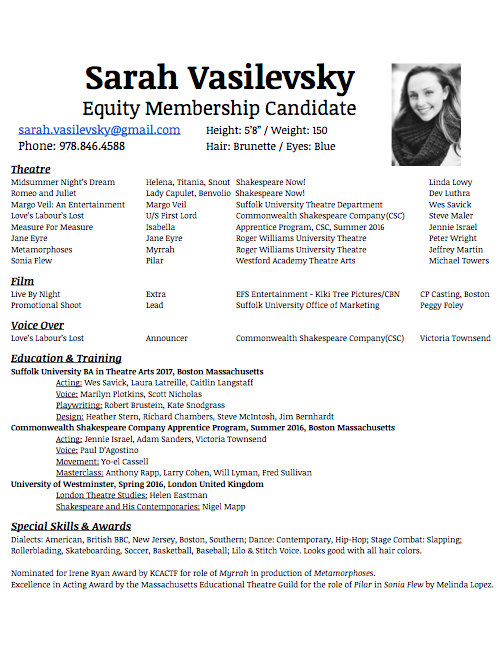 Resume — Sarah Vasilevsky