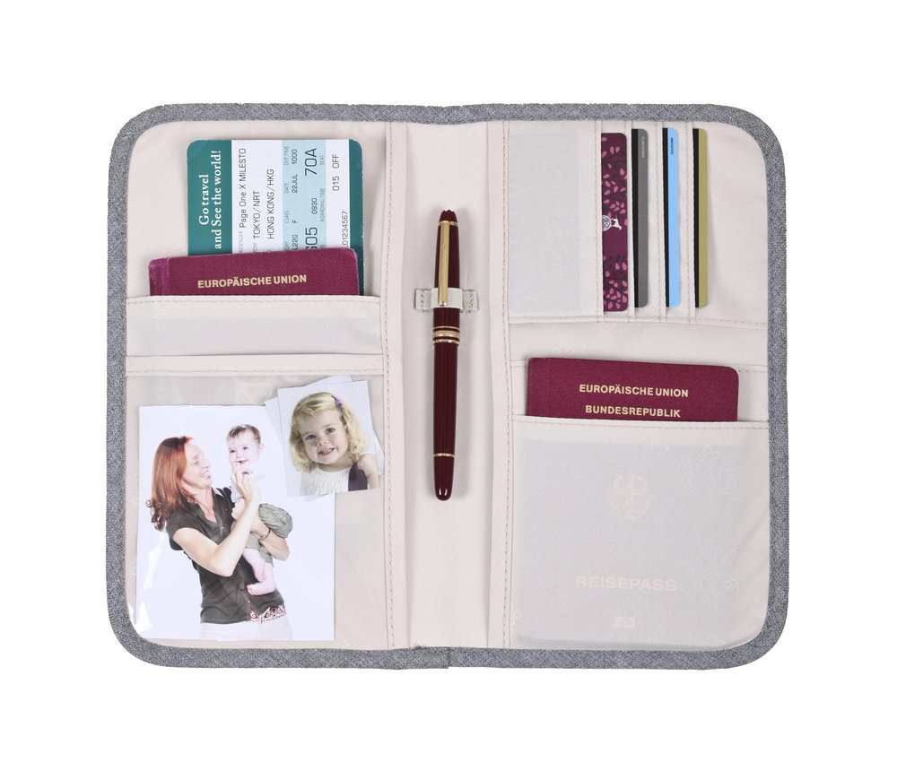 space for all important travel documents