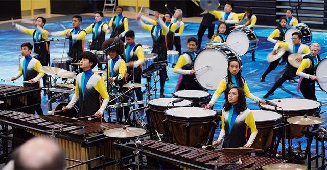 Stockton show! 📸 - - -  #drum #drumline #drums #pit #marchingband #percussion #music #marchingpercussion #wgi #ncpa #dci #winterpercussion #california #wgipercussion #2018 #highschool #show #drummer #cymbals #quads #team #winter #bass #snare #mallet #team #blue #hd #photography #performance